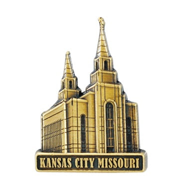 LDS Kansas City Temple Pin gold - Zions Marketplace