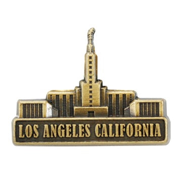 LDS Los Angeles California Temple Pin Gold - Zions Marketplace