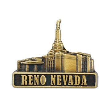 LDS Reno Nevada Temple Pin gold - Zions Marketplace