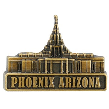 LDS Phoenix Arizona Temple Pin gold - Zions Marketplace