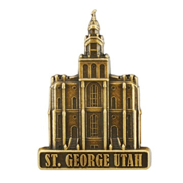 LDS St George Utah Temple Pin ttt300 - Zions Marketplace