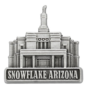 LDS Snowflake Arizona Temple Pin Silver - Zions Marketplace