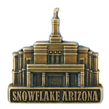 LDS Snowflake Arizona Temple Pin gold - Zions Marketplace