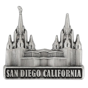 LDS San Diego California Temple Pin Silver - Zions Marketplace