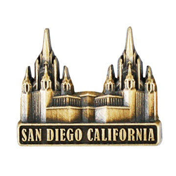 LDS San Diego California Temple Pin gold - Zions Marketplace