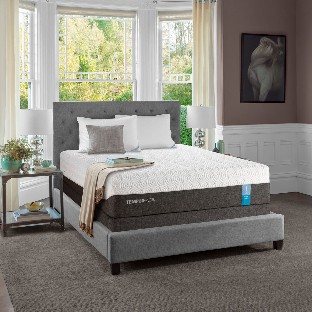 Tempur-Pedic Enchant mattress and bedframe in bedroom