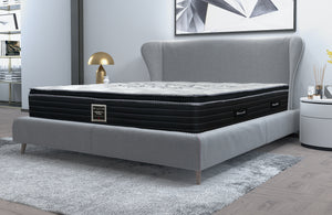 Mattress showcased in modern bedroom