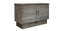 Stockholm Cabinet Bed Brushed Grey Closed
