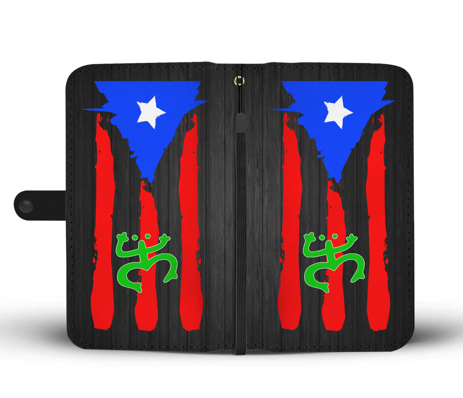 Puerto Rico Flag With Taino Coqui Wallet Case Bold City Depot