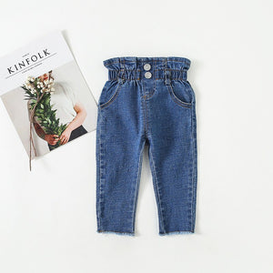 High-Waisted Denim Leggings