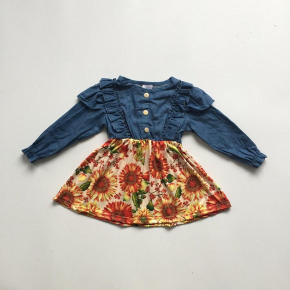 Denim Sunflower Dress