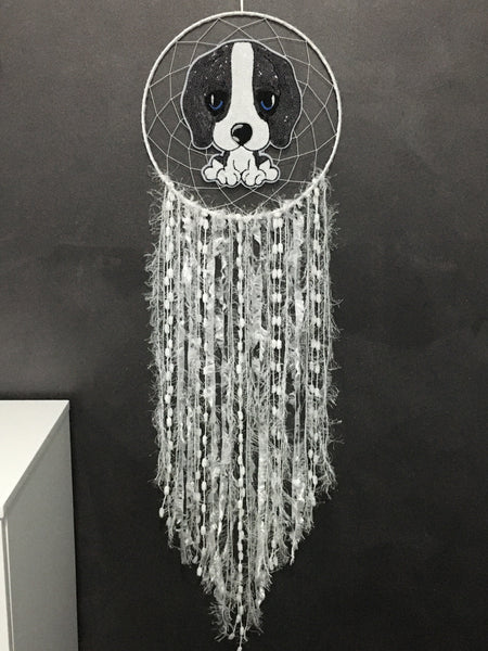 Puppy Dog Dreamcatcher Black