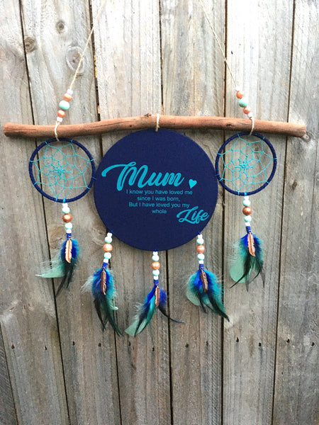 40cm Cluster Dreamcatcher with personalised text