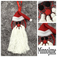 Santa Christmas Dreamcatcher Tree Decoration