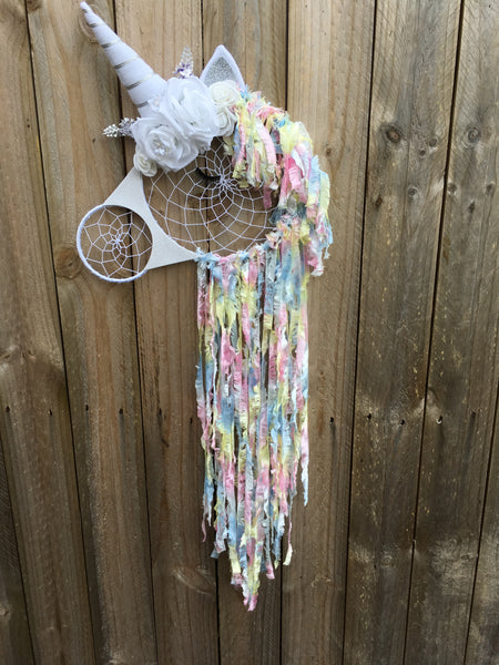 Unicorn Dreamcatcher White & Pastel