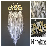 Merry Christmas Word Doily Cluster