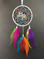 Mini Rainbow Unicorn Single Dreamcatcher