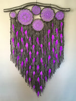 80cm Doily Cluster Black/Purple