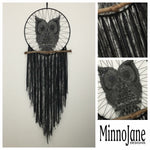 Owl Wall Hanging Black