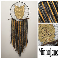 Owl Wall Hanging Gold/Black