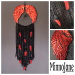 Angel Wing Dreamcatcher Black/Red