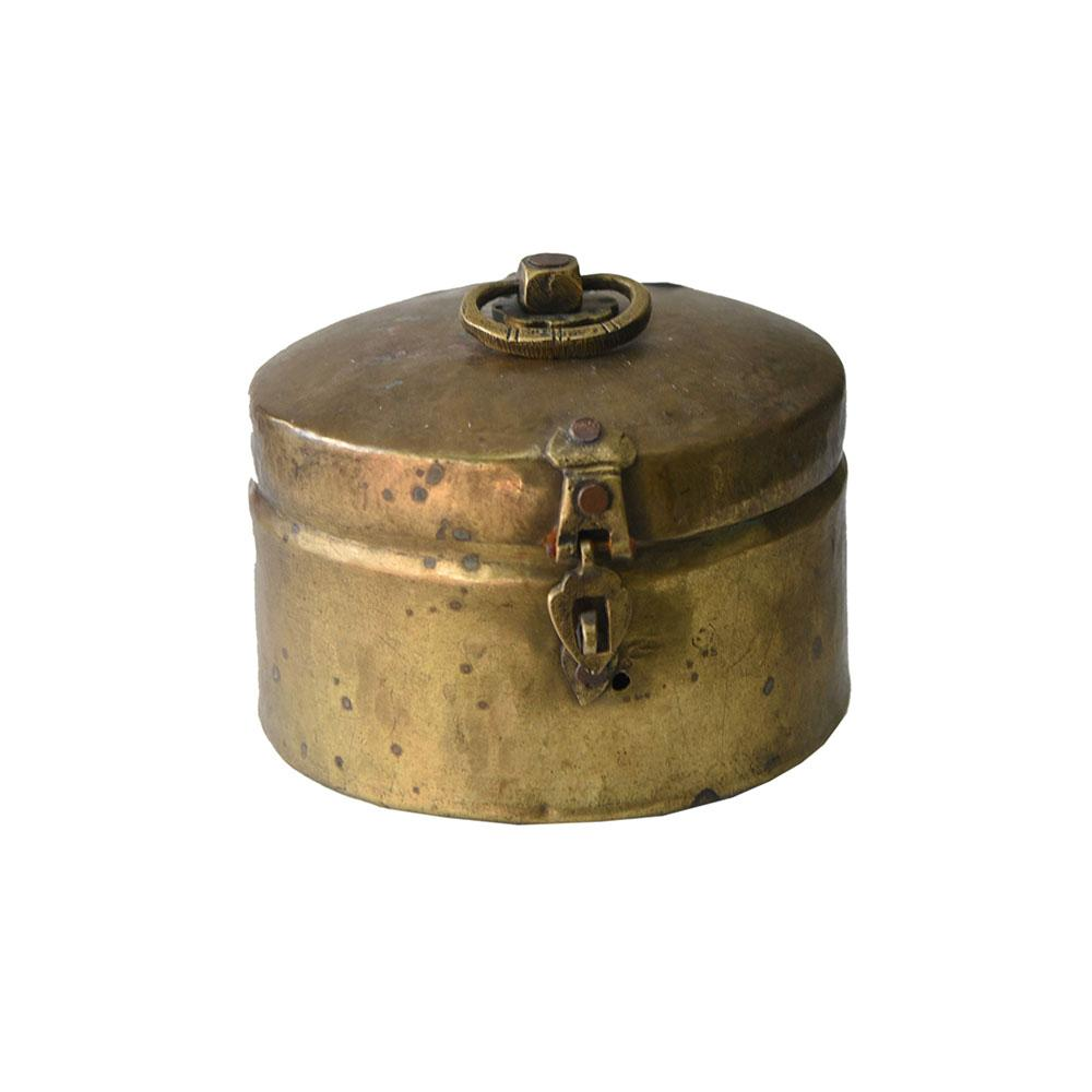 An Old Brass Chapati Box