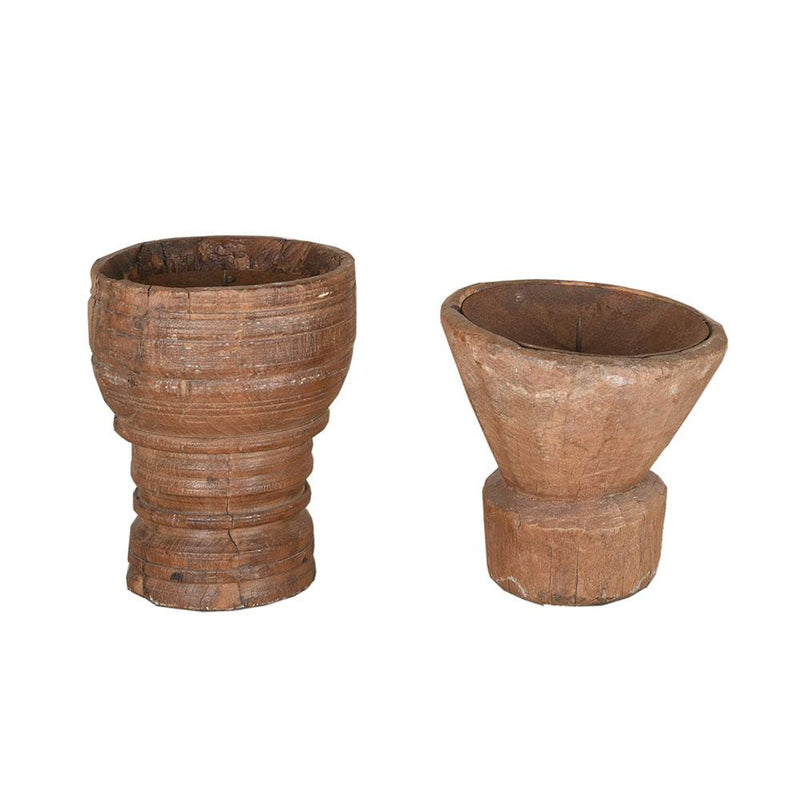 Assorted Small Wooden Candle Holders