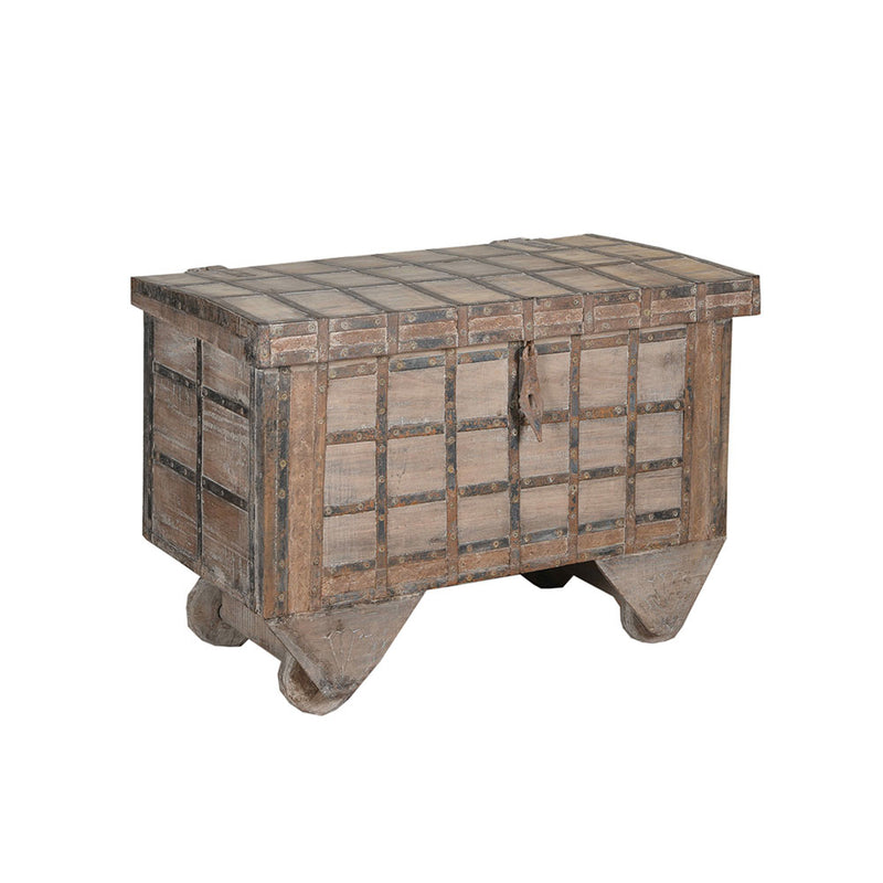 Wooden Chest with Wheels
