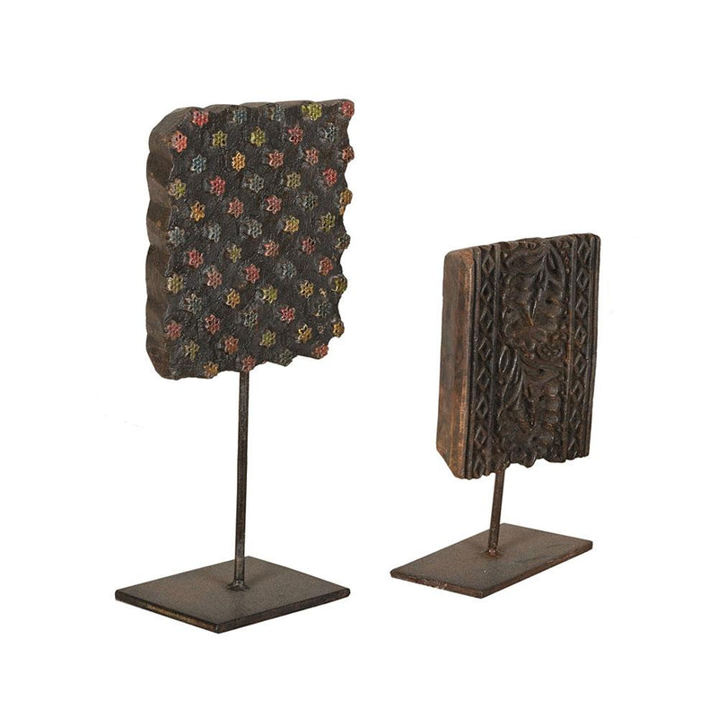 Wooden Block Prints on Stand