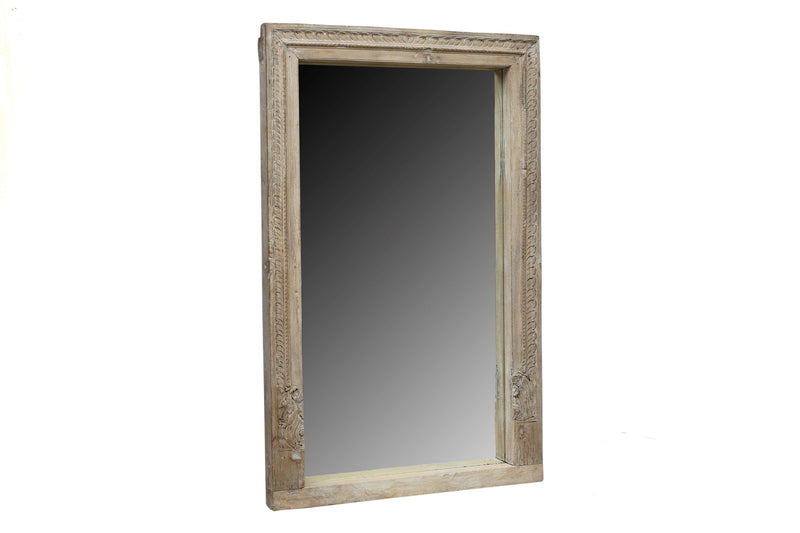 Wooden Indian Mirror