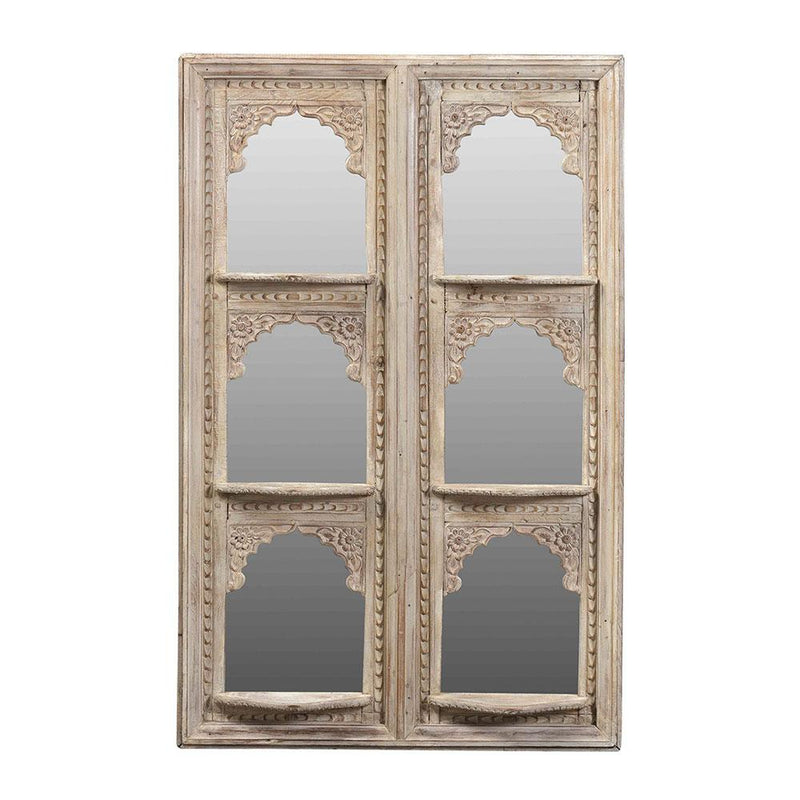 Wooden Door Frame with 6 Mirrors