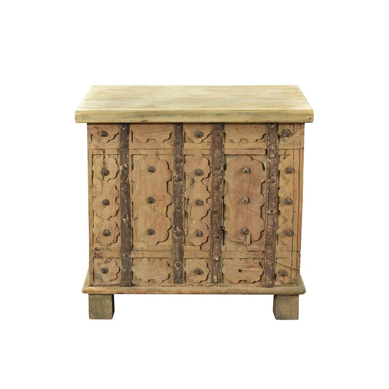 Carved Wooden Bedside Reproduction