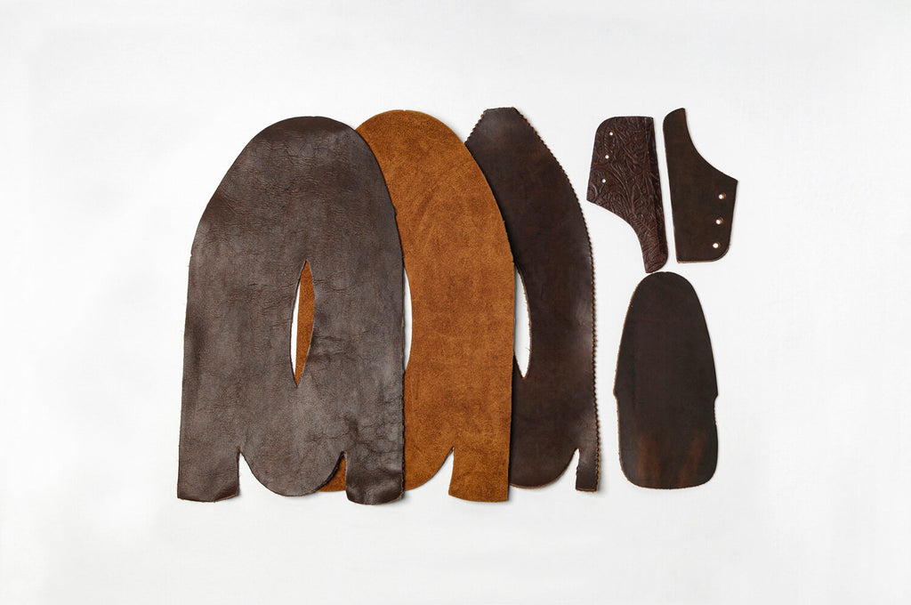 Deconstructed Leather Uppers of Yuketen Footwear
