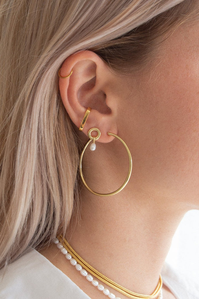 Mondo LRG Hoops - 18k Gold Plated Brass