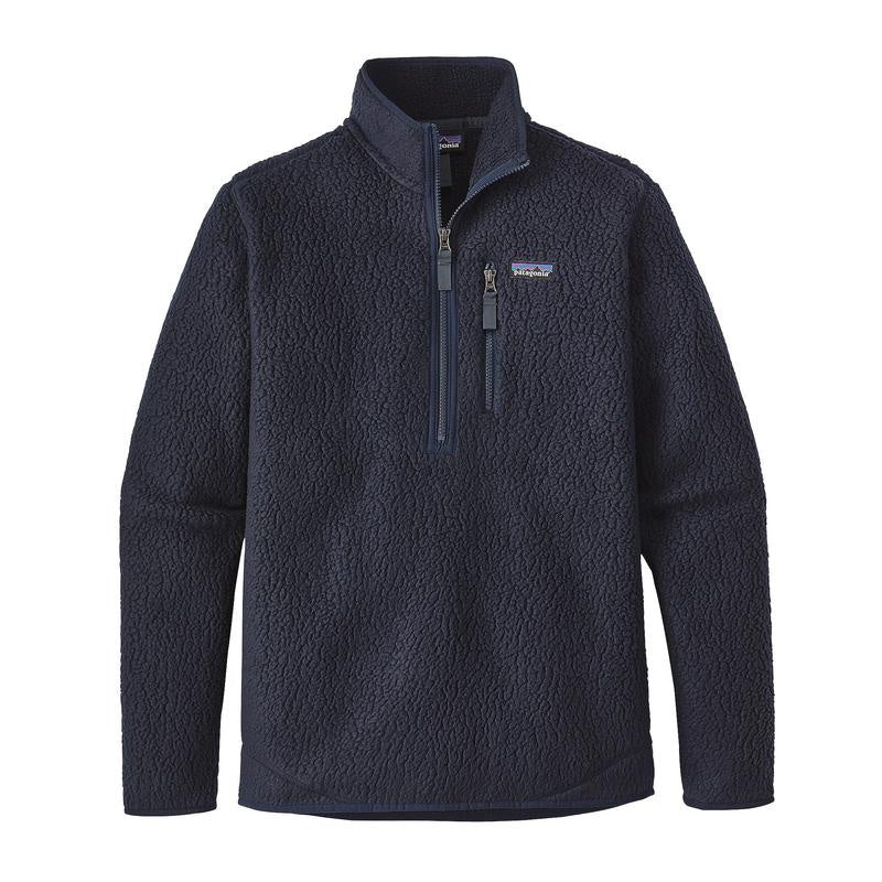 M's Retro Pile Pull Over Fleece - Navy Blue