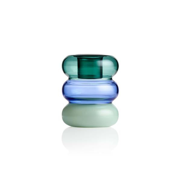 Petite Pauline Candle Holder - Teal Azure Mint