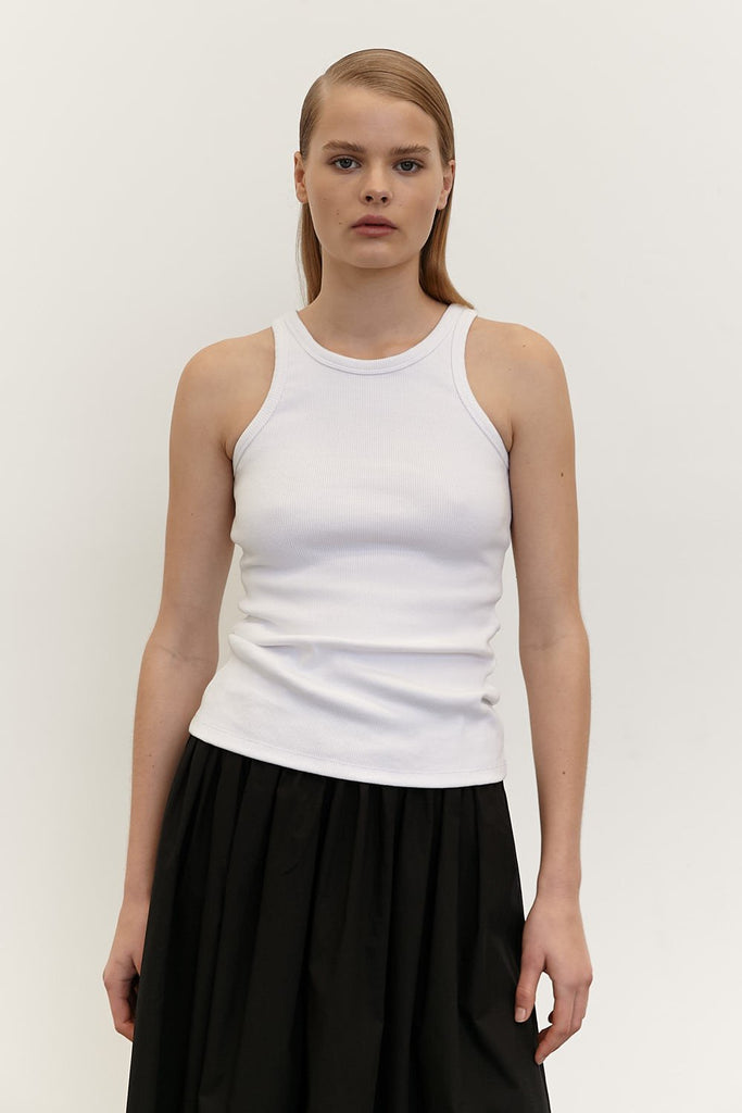 The Aline Tank - White