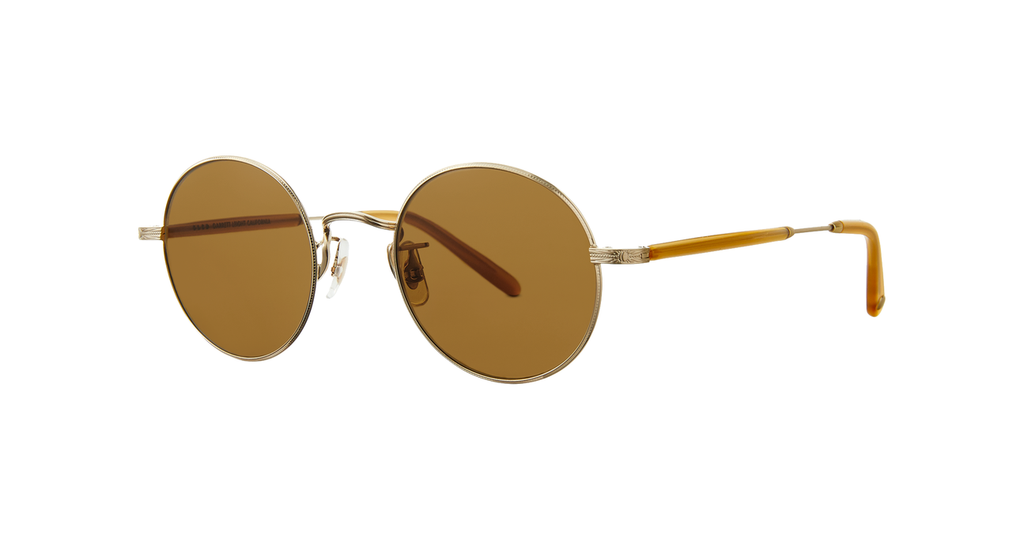 Lovers 46 Sunglasses - Matte Gold-Amber Honey/Pure Brown