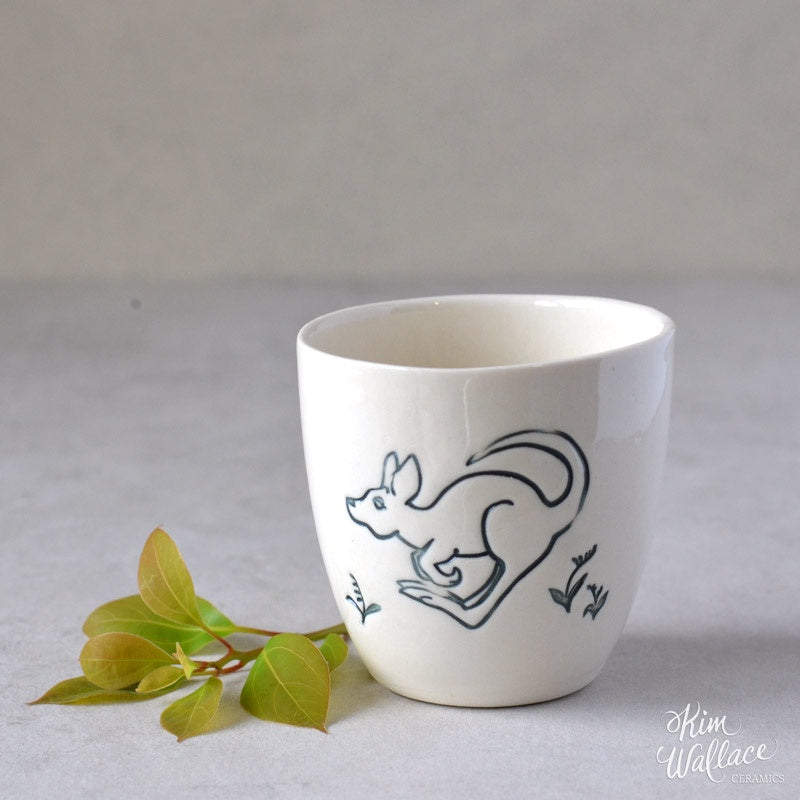Bush Prints Porcelain Cup (Medium) - Little Roo