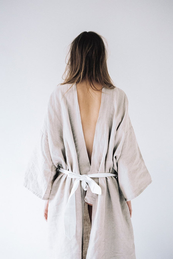 The 02 Full Length Robe - Natural