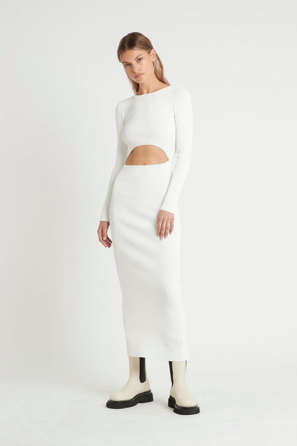 Celle Reversible Dress - Ivory