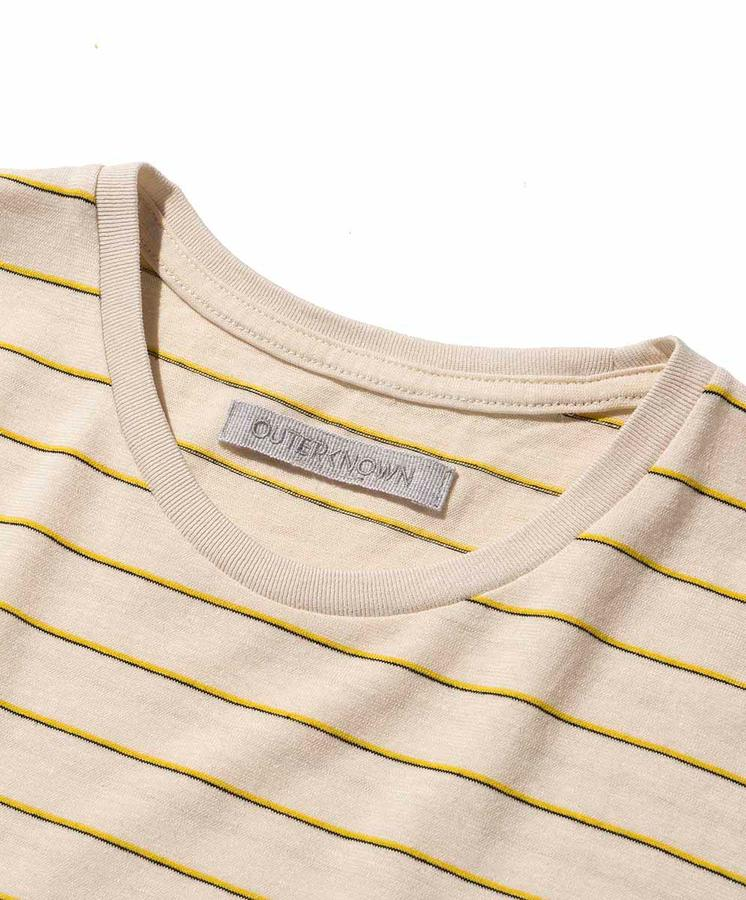 Hemp Stripe Tee - Vapor Beach Stripe