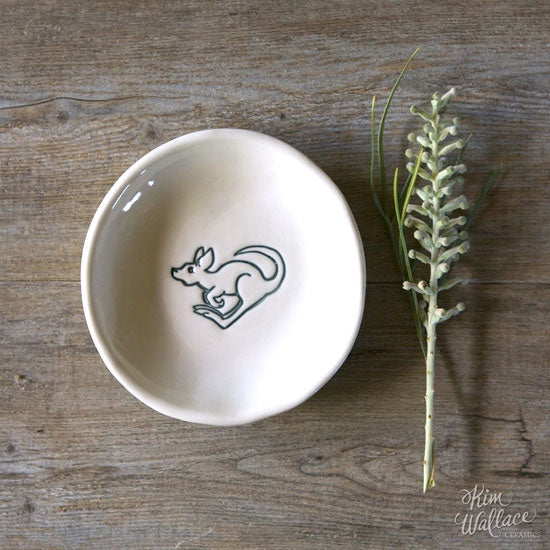 Bush Prints Porcelain Bowl - Roo