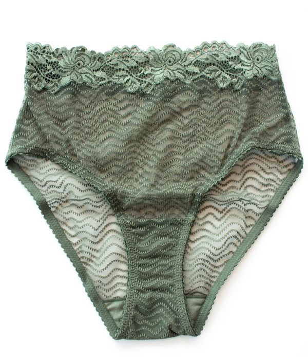 Bonnie High Waist Brief - Forest