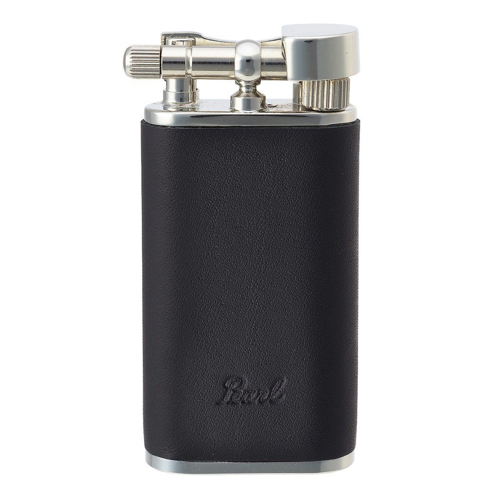 Bolbo Double Flame Gas Lighter - Black Leather