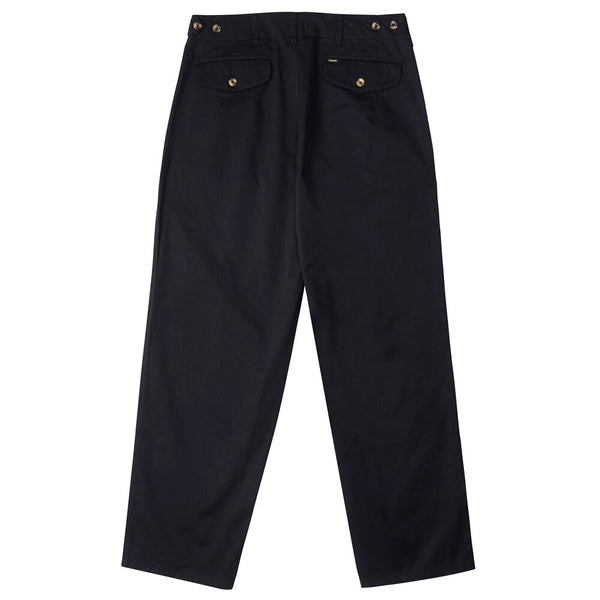 Mens Pleated Pant - Black Twill