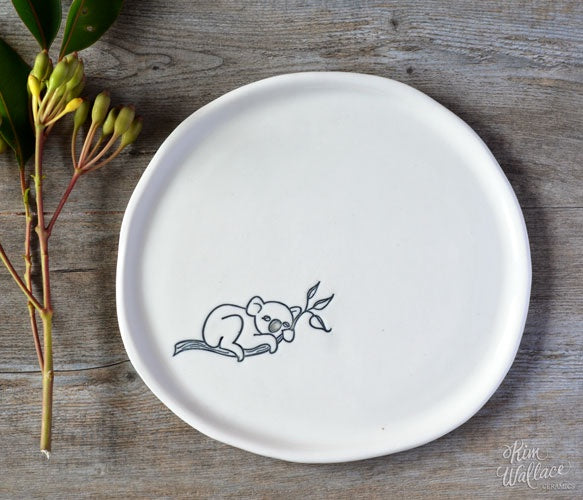 Bush Prints Porcelain plate - Koala