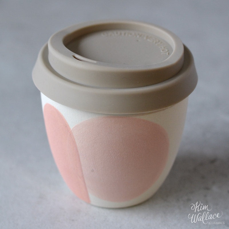 Reusable Takeaway Cup 8oz - Blush Pink