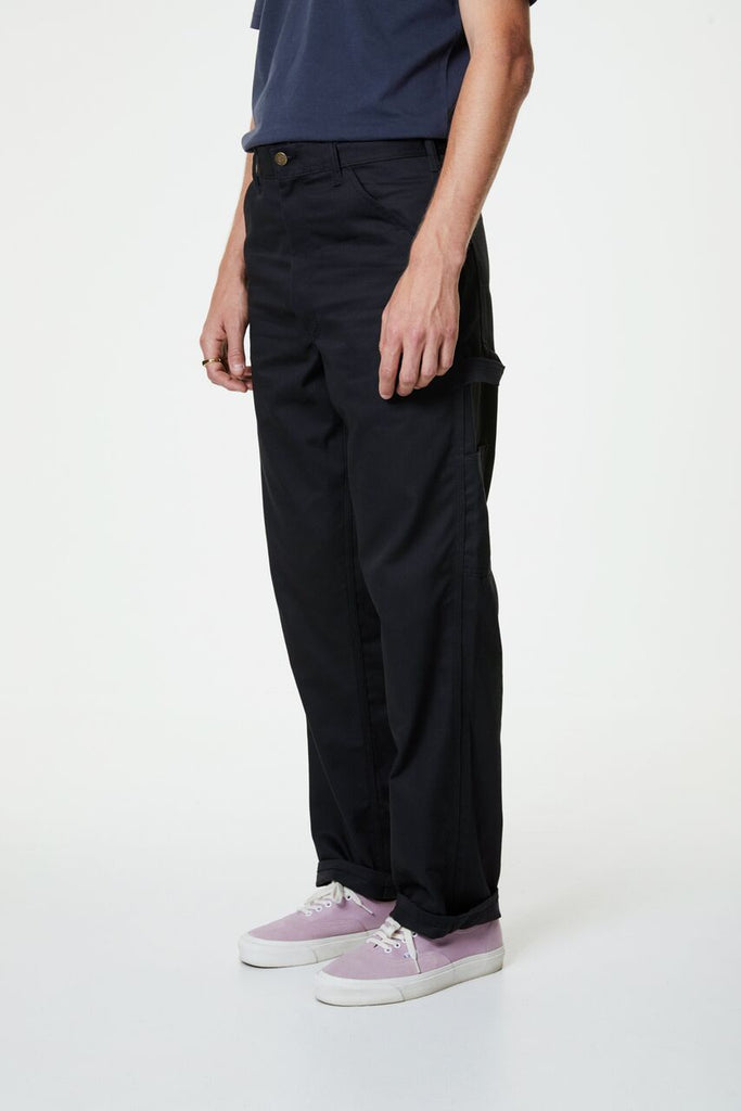 Single Knee Painter Pant - Black Twill