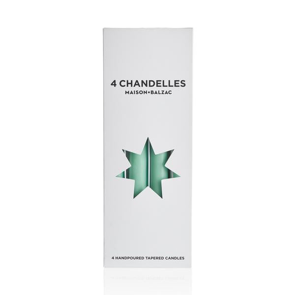 4 Chandelles - Tapered Candles - Mint